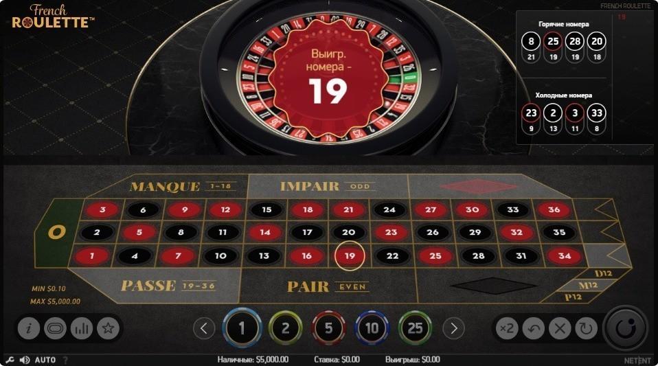 Игра в европейскую рулетку бесплатно без регистрации